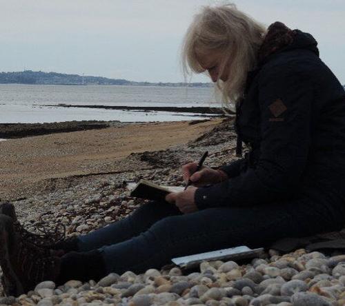 Beach Sketching - Clare Buchta Berkshire Artist