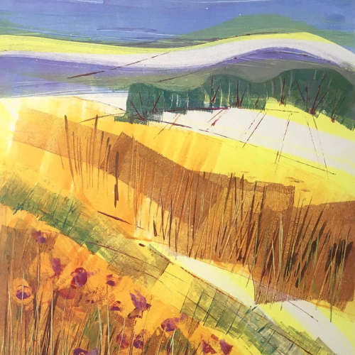 Field with Thistles - Berkshire Art Gallery - Clare Buchta