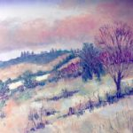New Forest Snow Scene – Oil Painting – Berkshire Landscape Artist Clare Buchta