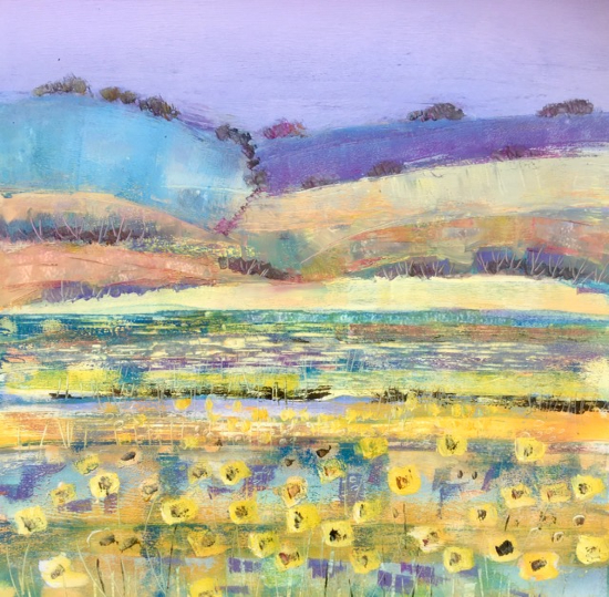 Sunflower Fields - English Summer - Berkshire Landscape Artist Clare Buchta