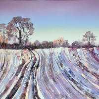 Winter Fields – Berkshire Landscape and Monotype Artist Clare Buchta