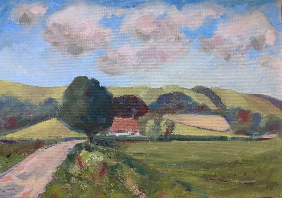 Didling Down - Chichester West Sussex Landscape - Reading Guild of Artists member Shelagh Casebourne
