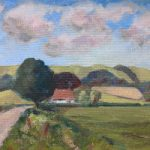 Didling Down near Chichester West Sussex Landscape – Reading Guild of Artists member Shelagh Casebourne