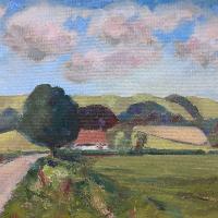 Didling Down near Chichester West Sussex Landscape – Reading Guild of Artists member Shelagh Casebourne