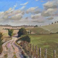Lavant Down – Chichester West Sussex – Landscape Painting by LAOTY Finalist Shelagh Casebourne