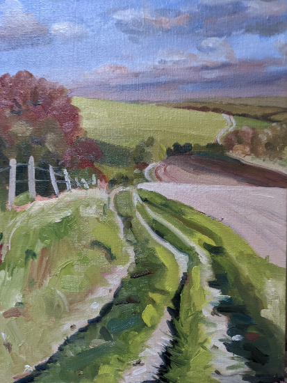 On the South Downs Way - near Ditchling West Sussex - Reading Guild of Artists - Shelagh Casebourne