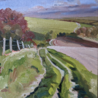 On the South Downs Way – near Ditchling East Sussex – Reading Guild of Artists – Shelagh Casebourne