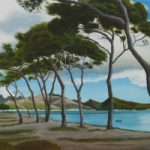 Pollensa Bay Mallorca – Pine Trees – Coastal Landscape – Reading Guild of Artists member Kerry Webb
