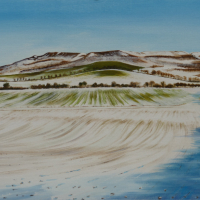 Uffington Castle near Wantage Oxfordshire – Rural Landscape Artist Kerry Webb – Berkshire Artists Gallery