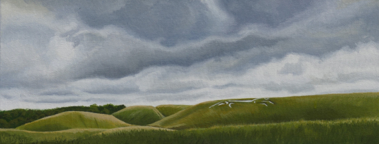Uffington White Horse - Oxfordshire Landmark - Berkshire Landscape Artist Kerry Webb - Reading Guild of Artists