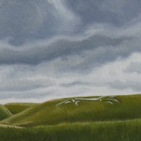Uffington White Horse – Oxfordshire Landmark – Berkshire Landscape Artist Kerry Webb