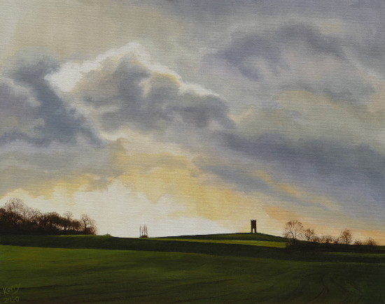 Wilder's Folly near Sulham Berkshire - Reading Guild of Artists member Kerry Webb