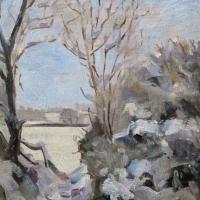 Winter Scene – Window on the Snow – LAOTY Finalist – Berkshire Artist Shelagh Casebourne