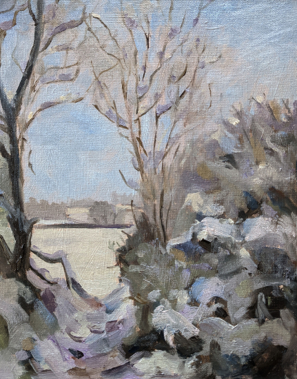 Winter Scene - Window on the Snow - LAOTY Finalist Shelagh Casebourne