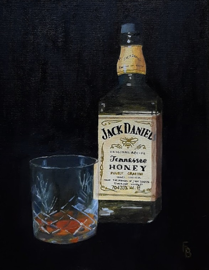 Jack Daniels Whisky - Solace - Berkshire Art Gallery - Fred Bennett