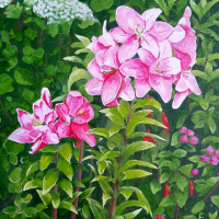 Lilium Faralito Floral Oil Painting by Berkshire Artist Fred Bennett