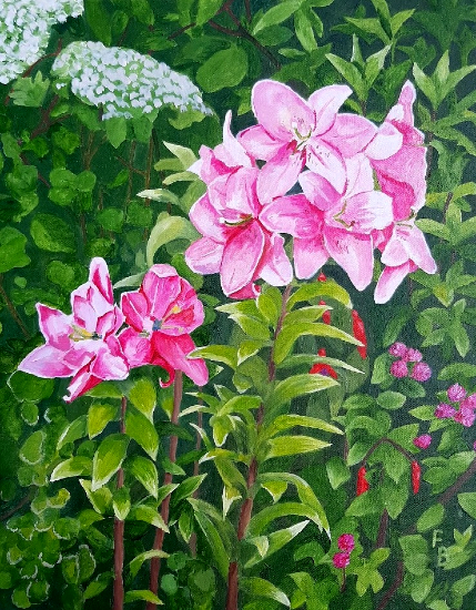 Lilium Faralito Oil Painting by Berkshire Artist Fred Bennett