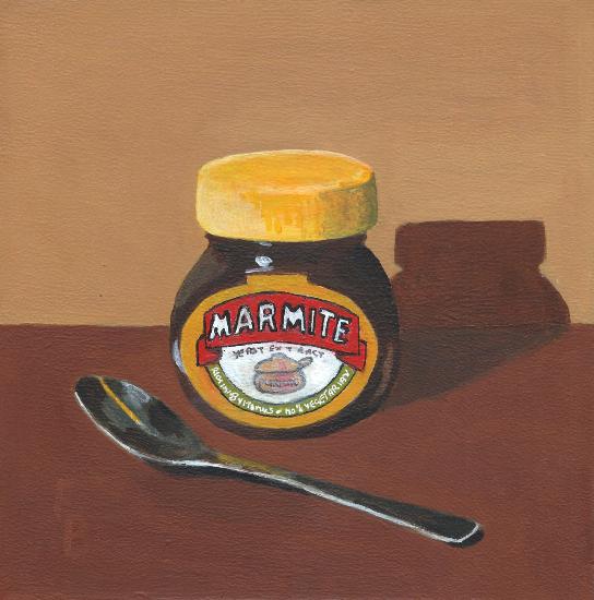 Marmite Painting - Crowthorne & Sandhurst Art Society member Fred Bennett