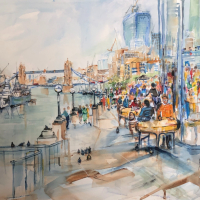 Tower Bridge London – River Thames South Bank – Crowthorne and Sandhurst Art Society Artist Jenny Whalley