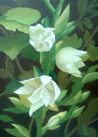 Yucca - Oil Painting sold by Wokingham Art Society member Fred Bennett