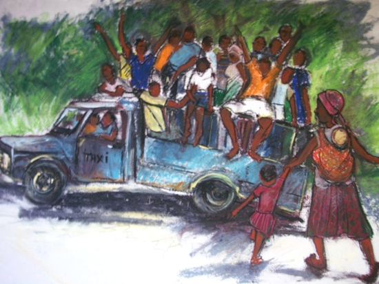 Zimbabwean Taxi Home - Crowthorne and Sandhurst Art Society member Jenny Whalley