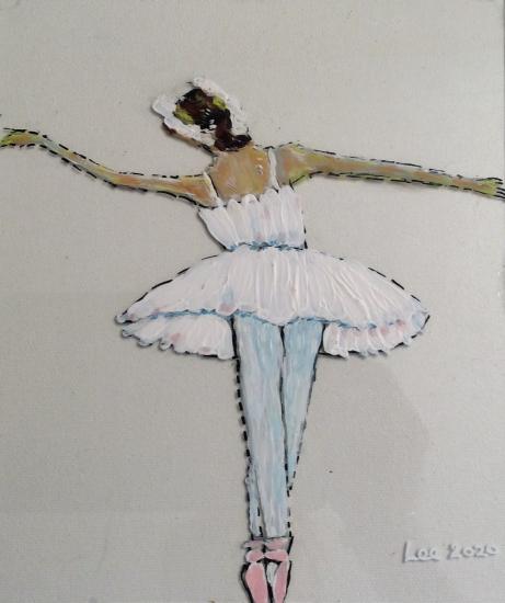 Ballerina - Dancer on Glass - Contemporary Berkshire Artist Lee Driver