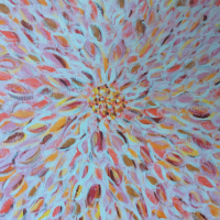 Exploding Flower – Acrylic and Gesso Painting – Berkshire Artist Lee Driver